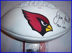Jim Hart Cardinals Jsa/coa Signed Football