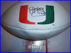 Jim Kelly Miami Hurricanes, Buffalo Bills Jsa/coa Signed Football