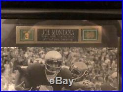 Joe Montana 49ers Notre Dame Signed Autograph Photo with frame COA PSA DNA