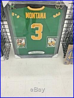 Joe Montana AUTO SIGNED JERSEY CUSTOM FRAMED NOTRE DAME JERSEY PSA DNA COA 49ers