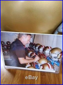 Joe Montana Auto Notre Dame Fighting Irish P/S Riddell Helmet- W RADTKE COA