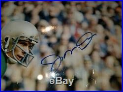 Joe Montana Autographed Framed 16x20 Picture Photo Notre Dame With Coa