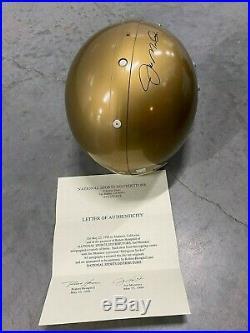 Joe Montana Autographed Irish (Notre Dame) Full-Size Helmet / COA with hologram