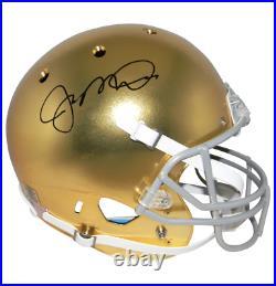 Joe Montana Autographed Notre Dame Full-Size GOLD TEXTURED Helmet BECKETT COA