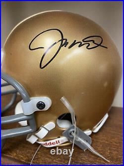 Joe Montana Autographed Notre Dame Mini Helmet. COA