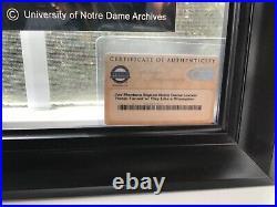 Joe Montana Autographed Notre Dame Photo Play Like a Champion Comes With COA
