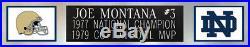 Joe Montana Autographed and Framed Blue Notre Dame Jersey JSA COA (D1-L)