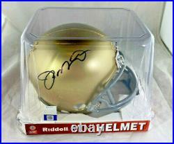 Joe Montana / NFL Hall Of Fame / Autographed Notre Dame Mini Helmet / Player Coa