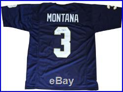 Joe Montana Notre Dame Autographed Signed Custom Jersey COA & Holo