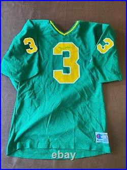 Joe Montana Notre Dame Champion Jersey Signed with COA Size L Late 70s
