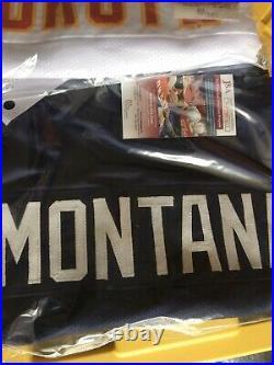 Joe Montana Signed Notre Dame Fighting Irish Football Jersey JSA witnessed coa