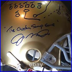 Joe Montana Signed Notre Dame PROLINE HELMET 1979 Chicken Soup Auto /79 Holo Coa