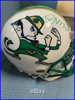 Joe Montana White Notre Dame Custom Proline Becket Coa With Irish Bumpers
