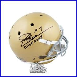 Joe Theismann CHOF Autographed Notre Dame Full-Size Football Helmet JSA COA