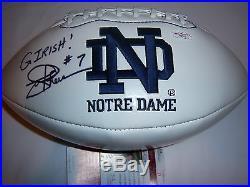 Joe Theismann Notre Dame Jsa/coa Signed Football