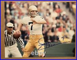 Joe Theismann SIGNED Autograph 11x14 Notre Dame Irish QB Wash Redskins K9 COA
