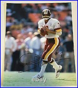 Joe Theismann SIGNED Autograph 11x14 Notre Dame QB Washington Redskins K9 COA