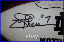 Joe Theismann Signed Notre Dame Baden Football Psa Coa Fb152