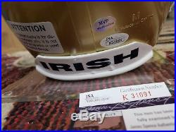 Joe Theismann signed Notre Dame Fighting Irish helmet inscribed Go Irish withCOA