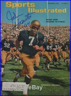 John Huarte Notre Dame Football 64 Heisman SIGNED Sports Illustrated 11/2/64 COA