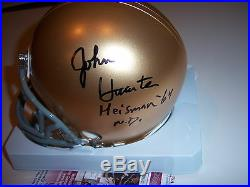 John Huarte Notre Dame, Heisman 1964 Jsa/coa Signed Mini Helmet