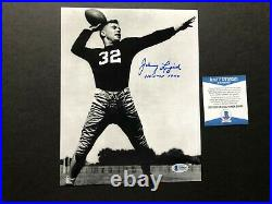 Johnny Lujack Rare autographed Notre Dame1947 Heisman 8x10 photo Beckett BAS coa