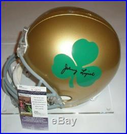 Johnny Lujack Signed Notre Dame Full Size Helmet Jsa Coa Authentic Autograph