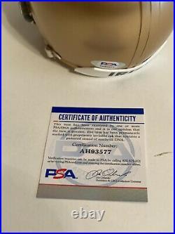 Johnny Lujack Signed Notre Dame Mini Helmet Fightin Irish 47 Heisman PSA/DNA COA