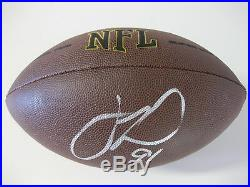 Justin Tuck, Giants, Raiders, Notre Dame, Signed, Autographed, NFL Football, Coa, Proof