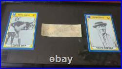 Knute Rockne JSA Coa Signed Framed Cut Autograph Notre Dame