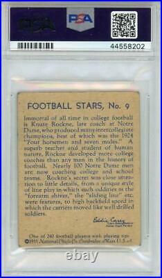 Knute Rockne Notre Dame Unsigned Card Fanatics Authentic COA Item#10816549
