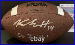 Kyle Hamilton Notre Dame Auto Signed NCAA Football JSA Witness COA GO IRISH