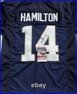 Kyle Hamilton Signed Custom Blue Notre Dame Football Jersey withJSA COA WIT53988