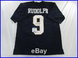 Kyle Rudolph Signed Notre Dame Irish Custom Jersey Beckett Bas Coa H99954