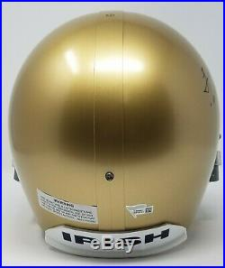 LOU HOLTZ AUTOGRAPHED/SIGNED FULL SIZE REP NOTRE DAME With INSC FANTACIS COA