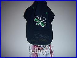Leon Hart, Johnny Lattner Notre Dame Fighting Irish Jsa/coa Signed Worn Hat