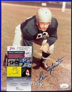Leon Hart Signed Autograph 8x10 Notre Dame 1949 Heisman Trophy Winner JSA COA