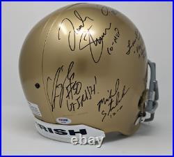 Lou Holtz 1988 National Champion Notre Dame Multi Signed F/S Helmet PSA COA 947