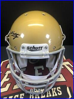 Lou Holtz Auto Notre Dame Autographed Full Size Schutt Helmet JSA COA