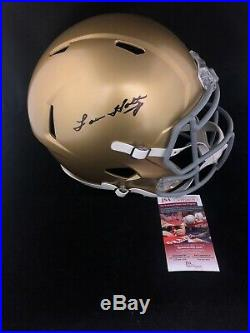 Lou Holtz Autographed Signed Notre Dame Full Size Football Helmet JSA COA