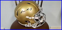 Lou Holtz Notre Dame Autographed Signed Full FS Helmet DUAL COA With DISPLAY CASE