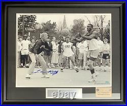Lou Holtz Signed Custom Framed Notre Dame 16x20 Photo Auto Tim Brown Steiner COA