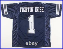 Lou Holtz Signed Notre Dame Fighting Irish Jersey (JSA COA) 1988 National Champs