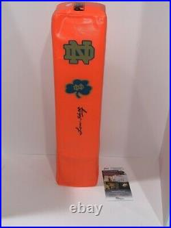 Lou Holtz Signed Touchdown Pylon Notre Dame Fighting Irish Football Jsa Coa