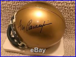 Lou Holtz+ara Parseghian Hand Signed Notre Dame Mini Helmet+coa Notre Dame