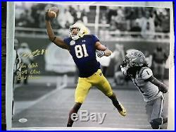 MILES BOYKIN NOTRE DAME FOOTBALL AUTOGRAPHED 16x20 PHOTO SPOTLIGHT WithINS JSA COA