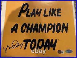 Manti Teo Signed Notre Dame Fighting IRISH Play Like A Champion Today 8x10 COA