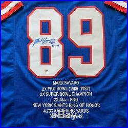 Mark Bavaro autographed signed jersey NFL New York Giants PSA COA Notre Dame