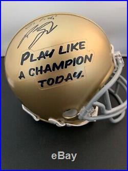 Mayor Pete Buttigieg Signed Notre Dame Mini Helmet BAS COA Autograph South Bend