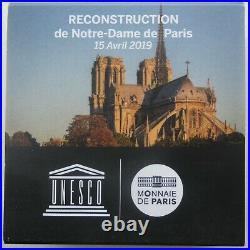 NGC PF70 France 2019 Paris Notre Dame Reconstruction Silver Coin 10 Euro COA